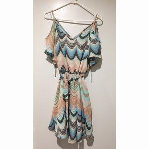 Lauren Conrad Open shoulder Soft Chiffon Dress